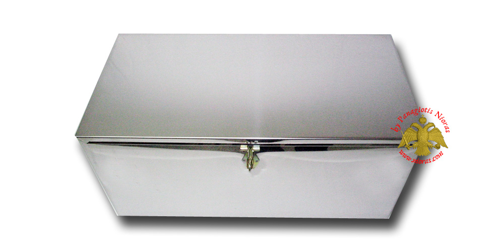 Cemetery Relics Box Stainless Steel Simple  22x50x24cm