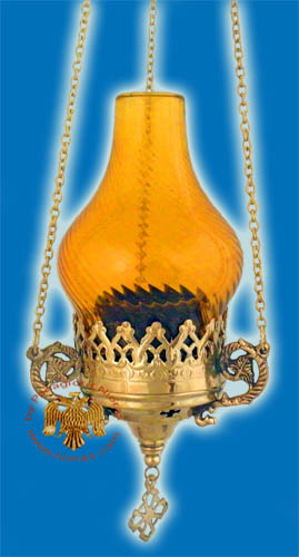 Glass Lamp Design Hanging Oil Candle Brass