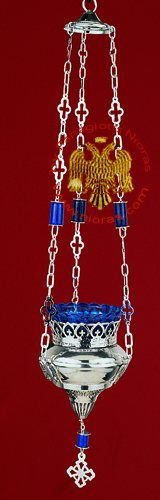 Eagle Design with Beads Hanging Oil Candle