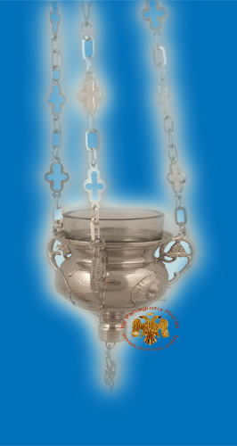 Angel Design Hanging Oil Candle Nickel
