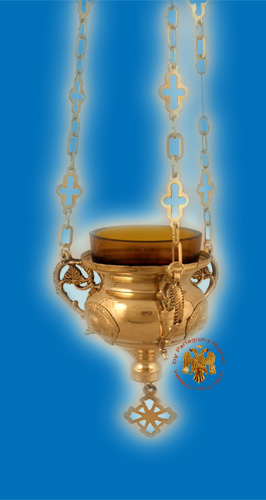 Angel Design Hanging Oil Candle Brass