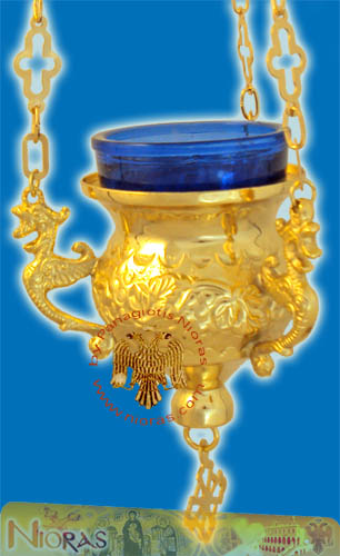 Orthodox Hanging Oil Candle Lace D