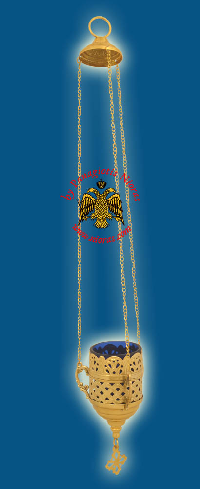 Orthodox Hanging Vigil Oil Candle Lace GP A