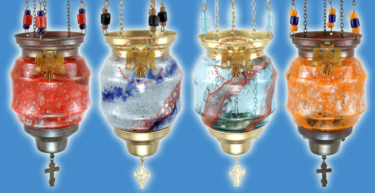 Glass Hanging oil Candle Design G
