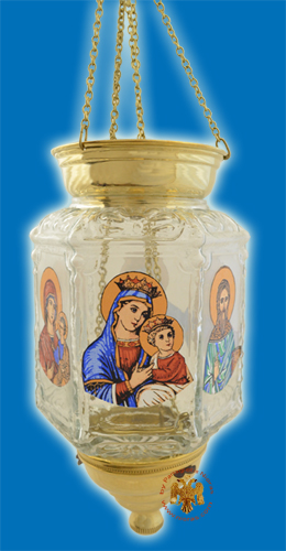Glass Oil Candle With Icons