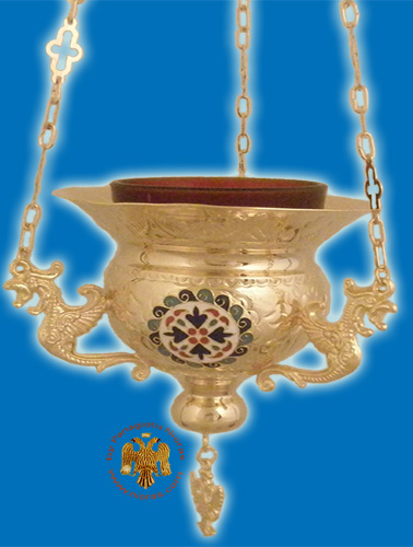 Vigil Oil Candle Byzantine N4 Gold plated