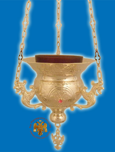 Vigil Oil Candle Byzantine N3 Gold plated
