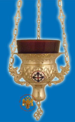 Vigil Oil Candle Byzantine N2 Gold plated