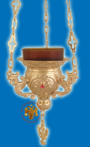 Vigil Oil Candle Byzantine N1 Gold Plated