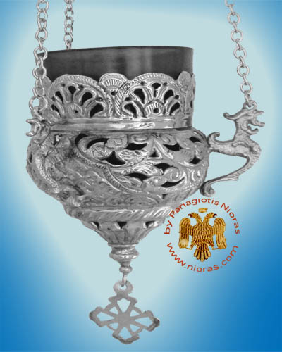 Orthodox Hanging Oil Candle Handmade Design B Nickel