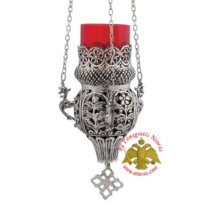 Orthodox Hanging Oil Candle Handmade Design A Nickel