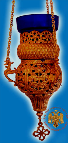 Orthodox Hanging Oil Candle Handmade Design A Antique