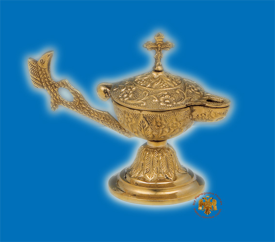 Orthodox Gianiotiko Lamp Style Incense Burner Brass