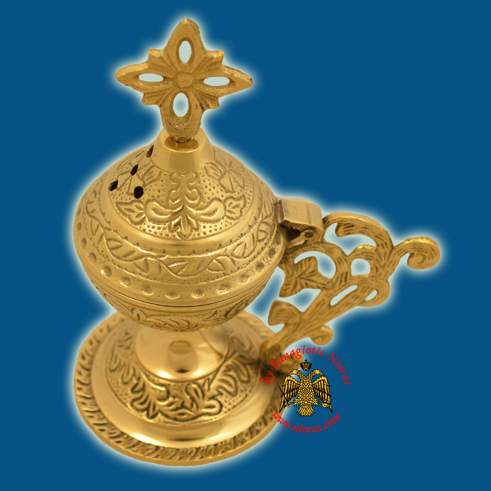 Orthodox Metal Brass Incense Burner 13cm Brass Polished