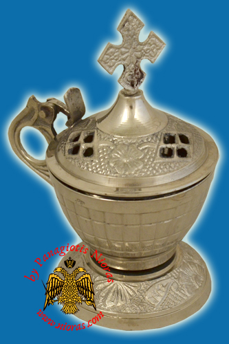 Incense Burner Nickel 12x6.5cm