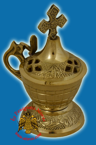 Orthodox Incense Burner Brass 11x5.5cm