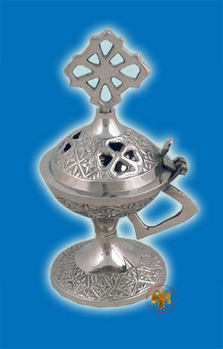 Metal Incense Burner Flower Nickel