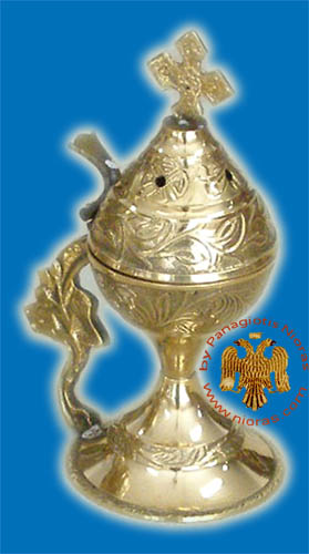 Metal Brass Incense Burner 14cm Brass