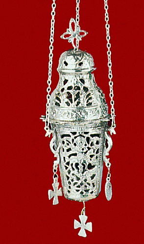 Gianiotino Style B Silver Plated Hanging Oil Candle
