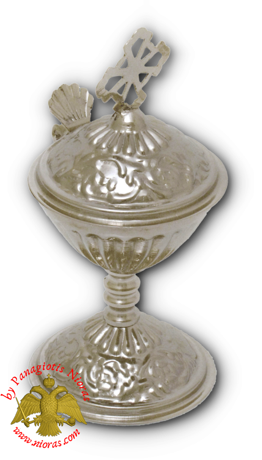 Orthodox Engraved Design B Incense Burner Nickel Plated 13cm
