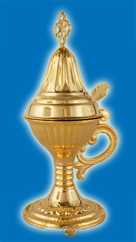 Orthodox Engraved Design C Incense Burner