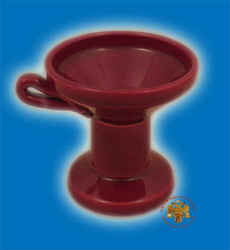 Orthodox Incense Burner Ceramic Red