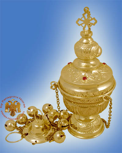 Plake Style Church Censer Gold Plated