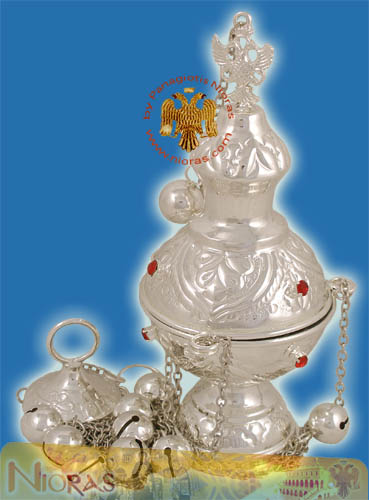 Russian Style A Church Censer Silver Plated