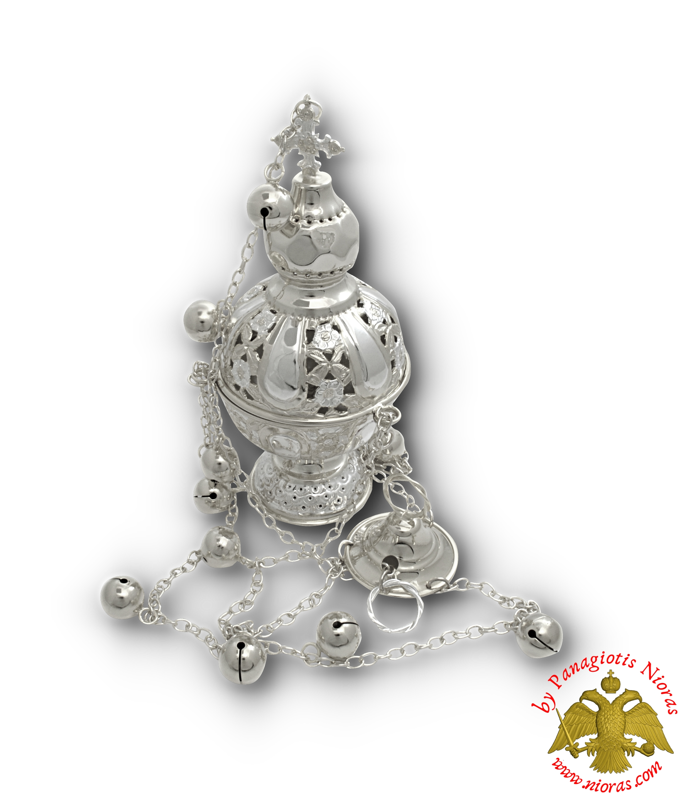 Orthodox Ecclesiastical Censer Russian Style 12x25m Silver Plated