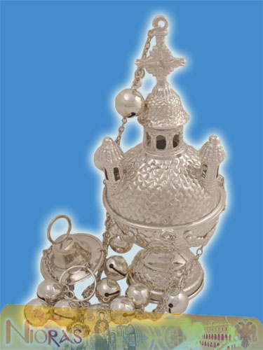 Russian Style A' Ecclesiastical Censer Silver Plated