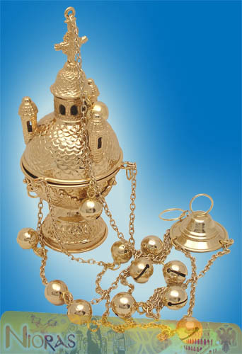 Russian Style A' Ecclesiastical Censer Gold Plated