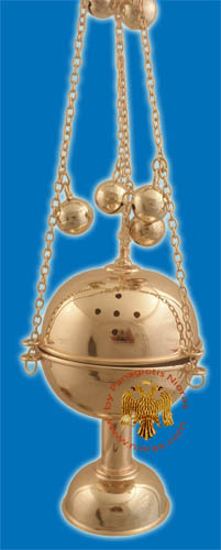 Ethiopian Tewahedo Church Censer Gold Plated