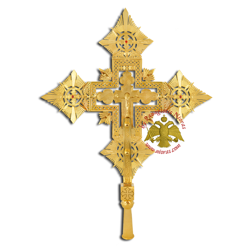 Ethiopian Coptic Exapterigon Cross Hand Made Gold Plated