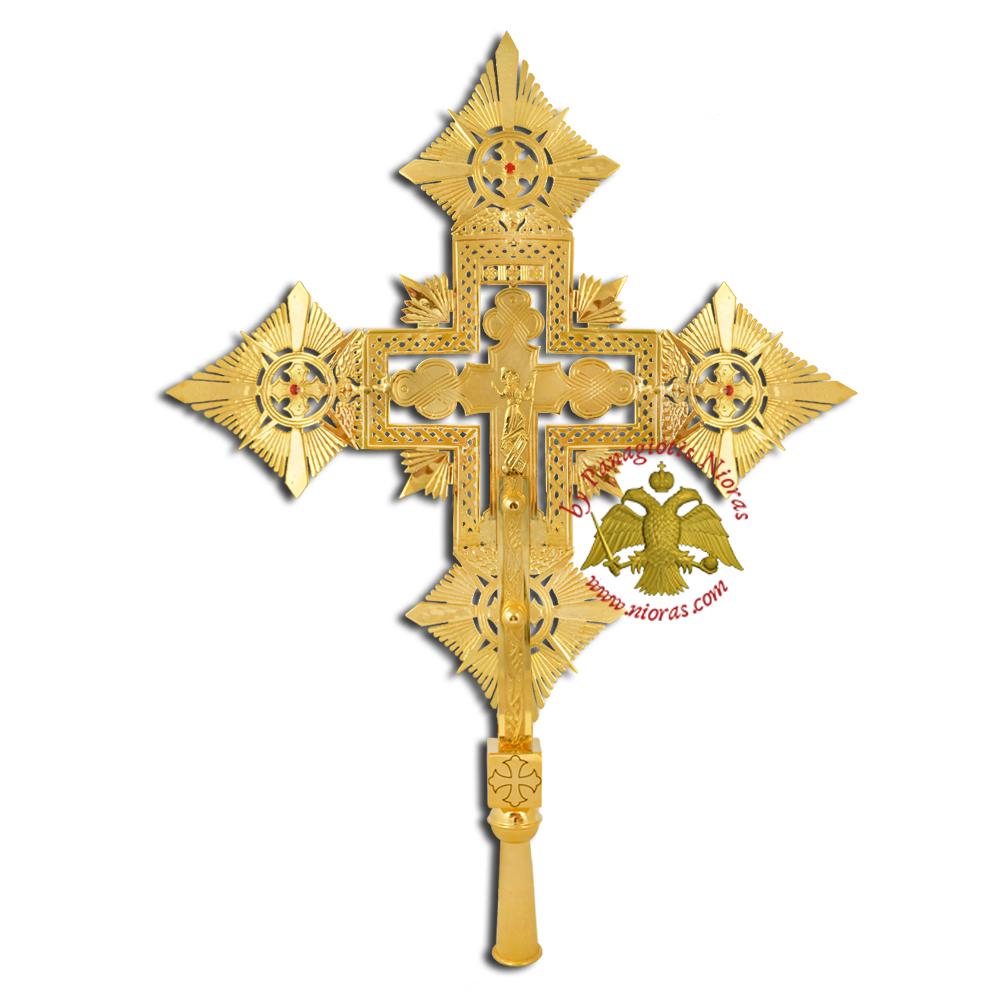 Ethiopian Coptic Exapterigon Cross Hand Made Gold Plated