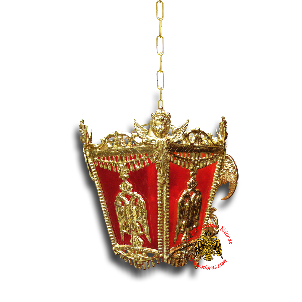 Ecclesiastical Electric Lamp Sconce with Eagle Design