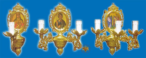 Sconce for Church Oval with Framed Icon