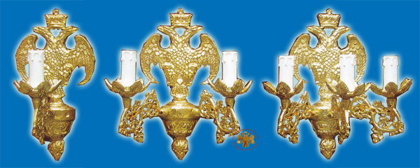 Sconce for Church With Byzantine Eagle Design A'