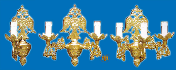 Sconce for Church With Byzantine Eagle Design B'