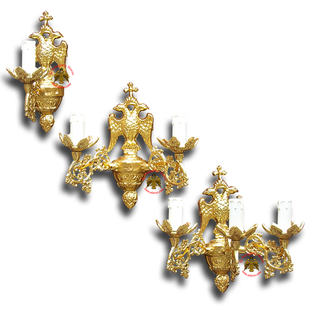 Sconce for Church With Byzantine Eagle Design C'