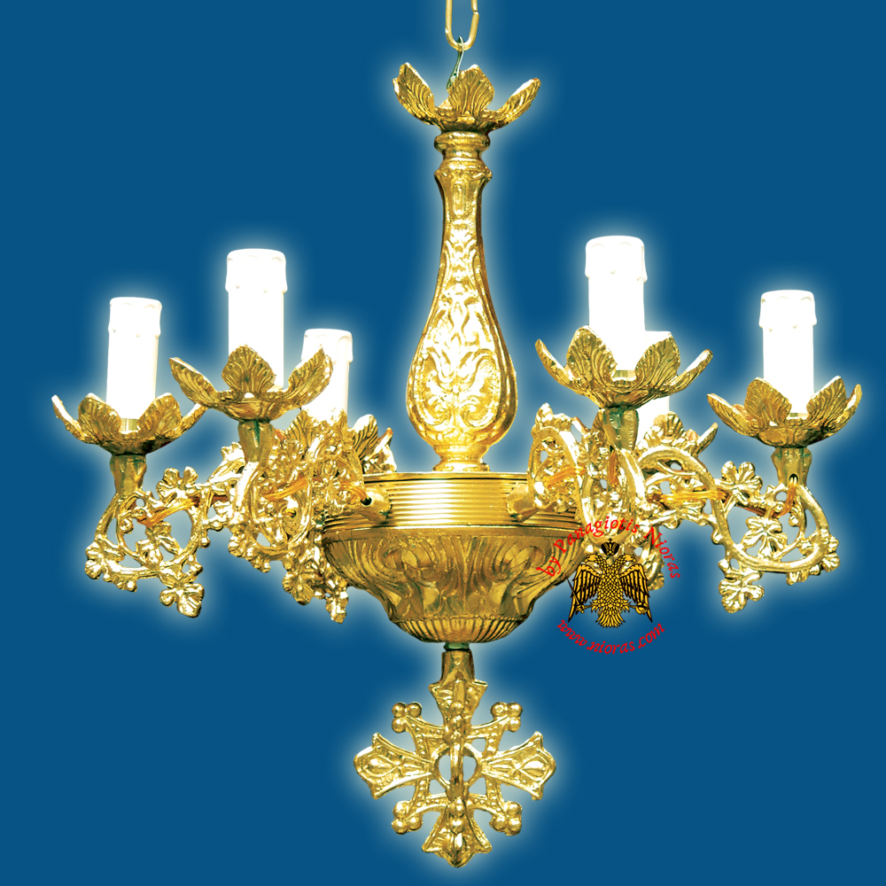Orthodox Church Chandelier for 6 Electric Lights
