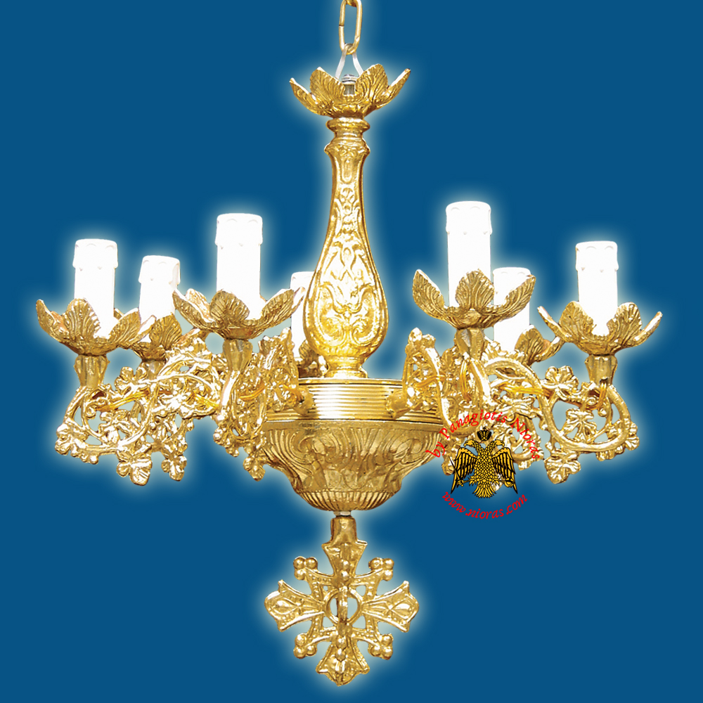 Orthodox Church Chandelier for 7 Electric Lights