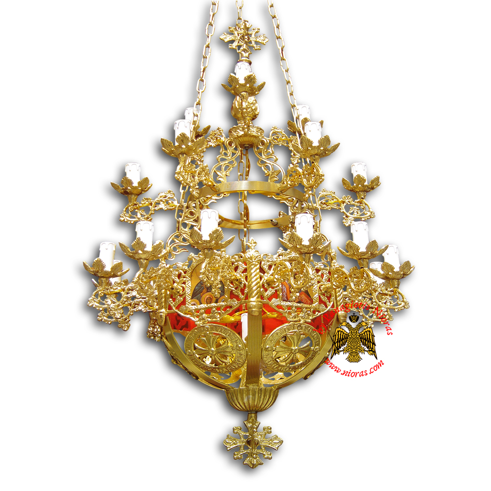 Orthodox Church Aluminum Chandelier small 22 lights