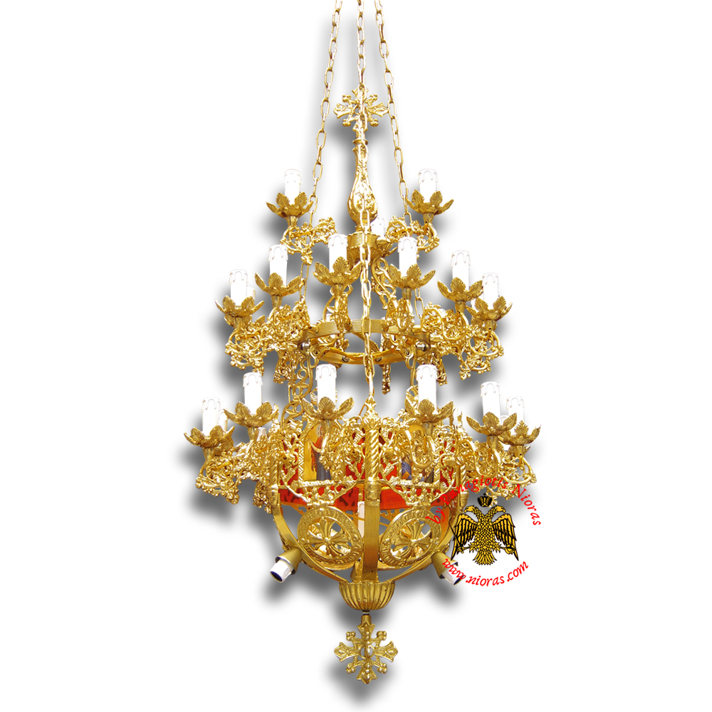 Orthodox Church Aluminum Chandelier small 31 lights