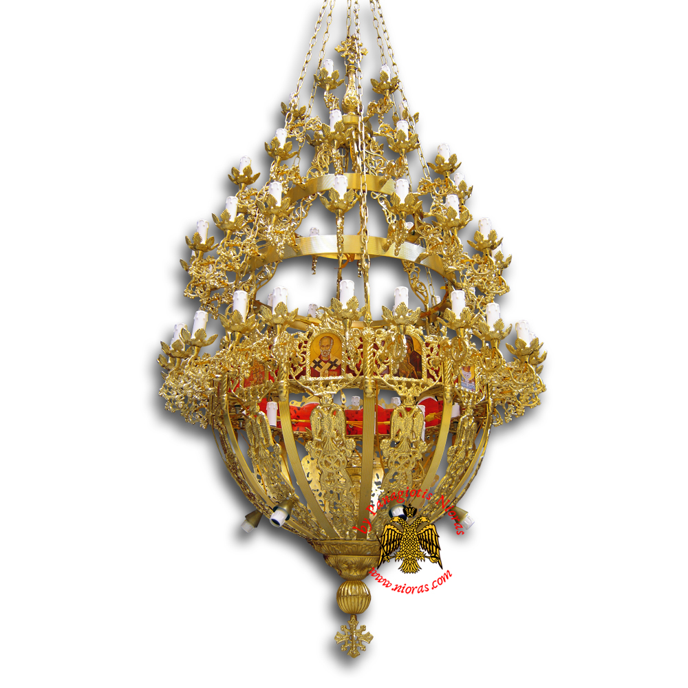 Orthodox Church Aluminum Chandelier small 80 lights