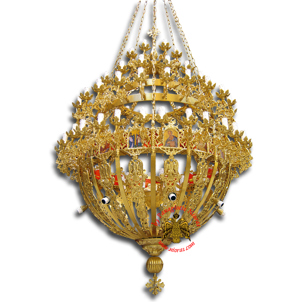Orthodox Church Aluminum Chandelier small 100 lights
