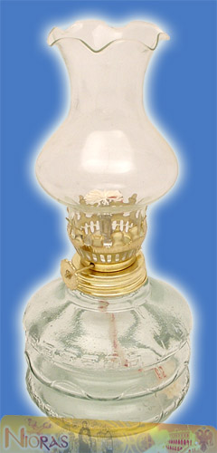 Glass Lamp for Parafinn Oil Cylinder Base 200ml Clear