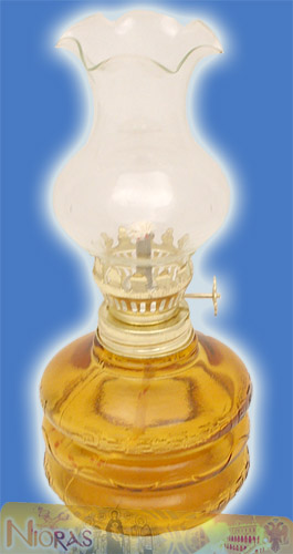 Glass Lamp for Parafinn Oil Cylinder Base 200ml Amber