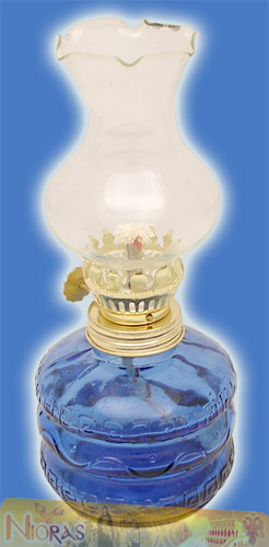 Glass Lamp for Parafinn Oil Cylinder Base 200ml Blue