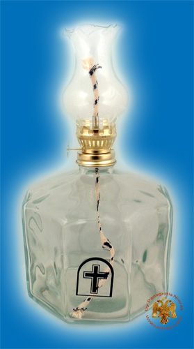 Glass Lamp for Parafinn Oil Hexagon Base 1000ml