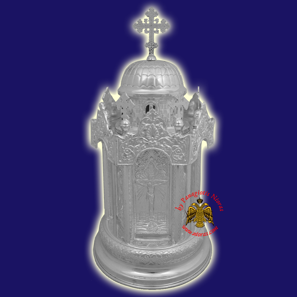 Silver 925 Metal Orthodox Church Tabernacle Hand Made in Greece